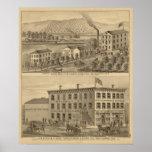 Molinos de lana de Clermont Posters