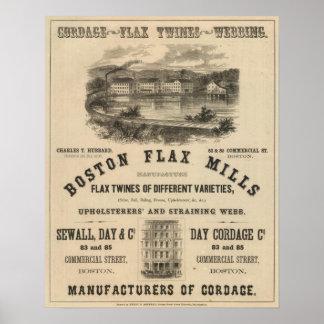 Molinos del lino de Boston Póster