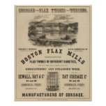 Molinos del lino de Boston Posters