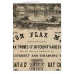 Molinos del lino de Boston Tarjeton