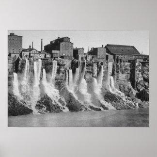 Molinos en el lado americano de Niagara Falls Póster