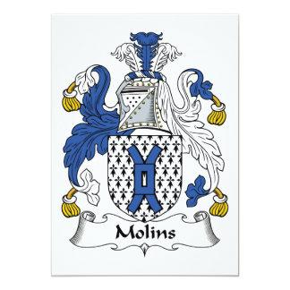 Molins Family Crest 5x7 Paper Invitation Card