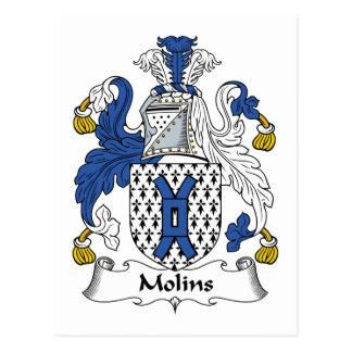 Molins Family Crest Postcard
