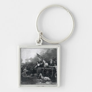 Moll Pitcher at the Battle of Monmouth Keychain
