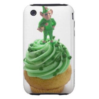 Mollete con la crema verde para el día de St Patri Tough iPhone 3 Fundas