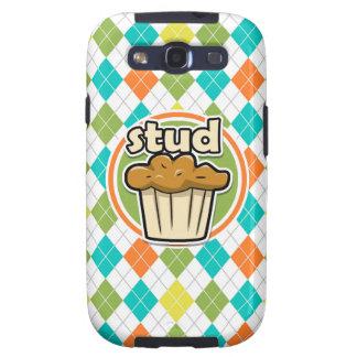 Mollete de Stuf; Modelo colorido de Argyle Galaxy S3 Funda