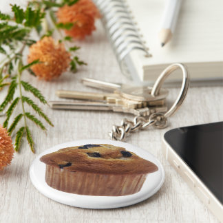 Mollete del arándano llavero redondo tipo pin