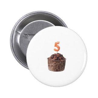 Mollete del chocolate con la vela para viejo de ci pin redondo de 2 pulgadas