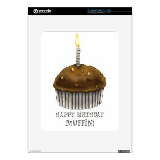 Mollete del feliz cumpleaños calcomanías para iPad