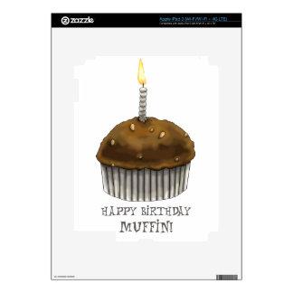 Mollete del feliz cumpleaños iPad 3 pegatinas skins