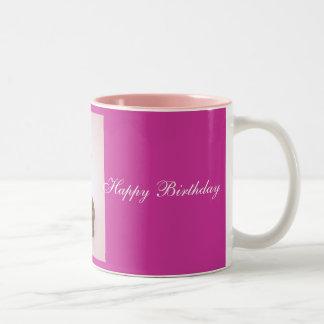 Mollete del feliz cumpleaños y taza #2 de la vela