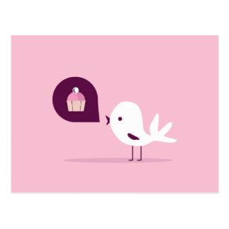 Mollete del pájaro tarjetas postales