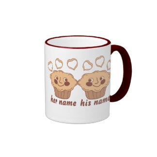 Molletes de la abrazo taza de café