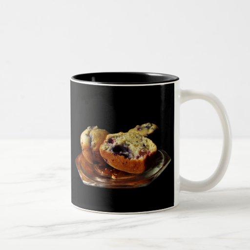 Molletes del arándano taza de café