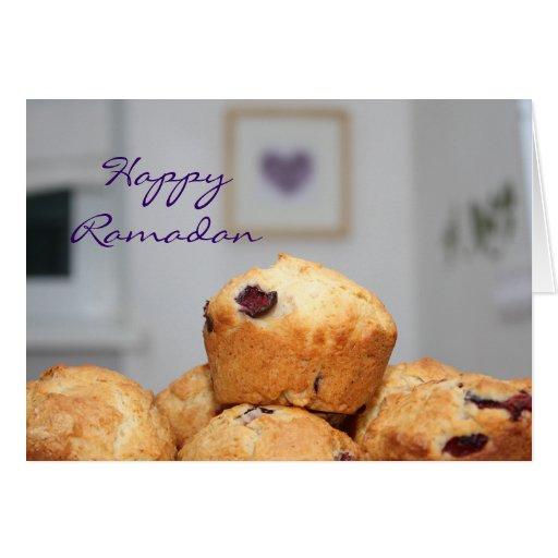 Molletes felices islámicos de los dulces del karee tarjeta de felicitación