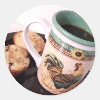 molletes y pegatina del color del café