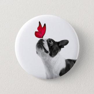 Mollie mouse child Boston Terrier Button