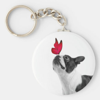 Mollie mouse child Boston Terrier Keychain