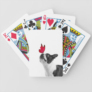 Mollie mouse child Boston Terrier Bicycle Playing Cards