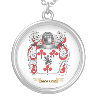 Molloy Coat of Arms (Family Crest) Silver Plated Necklace