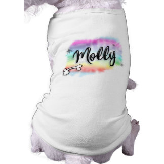 Molly - Airbrushed Rainbow Colors Background Dog T Shirt