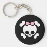 Molly Bow Basic Round Button Keychain