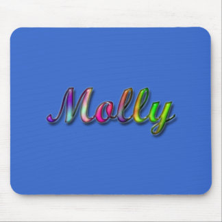 Molly_Colorful Glossy Name Mousepad