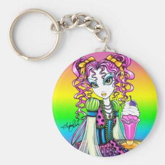 """""""Molly"""" Cute Rainbow Soda Shop Fairy Keychain"""