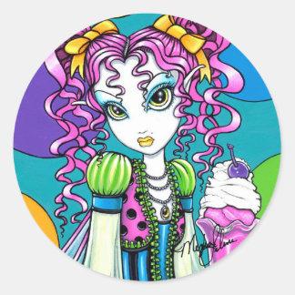 """Molly"" Cute Rainbow Soda Shop Fairy Stickers"
