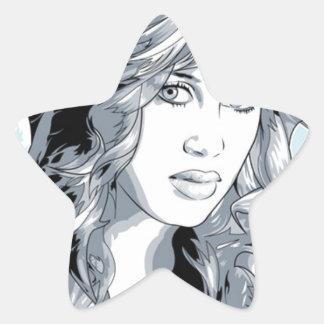 Molly Cyrus Hot Chick Star Sticker
