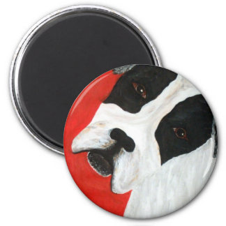Molly Dog 2 Inch Round Magnet