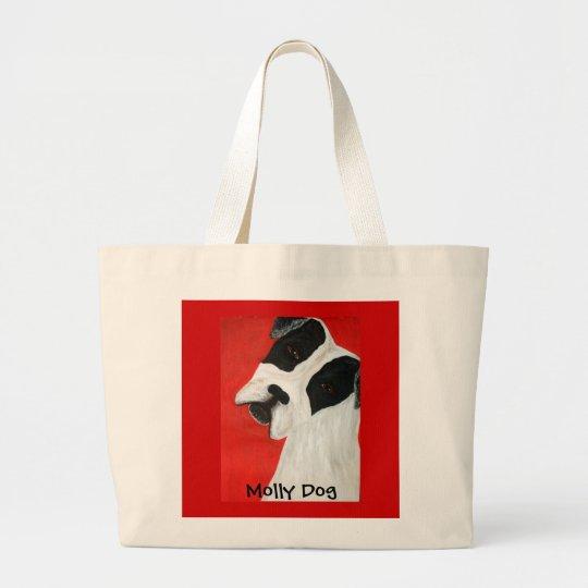 Molly Dog Large Tote Bag