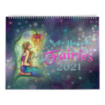 Molly Harrison Fairies 2021 Wall Calendar
