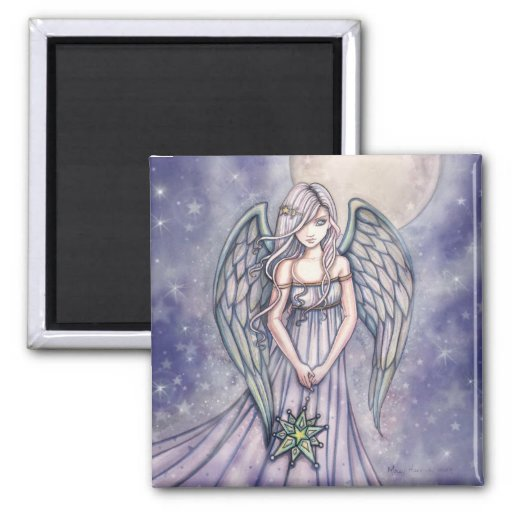 """molly harrison illustrations"" 2 inch square magnet"