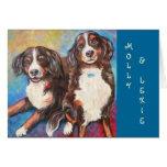 Molly & Lexie Notecard Card