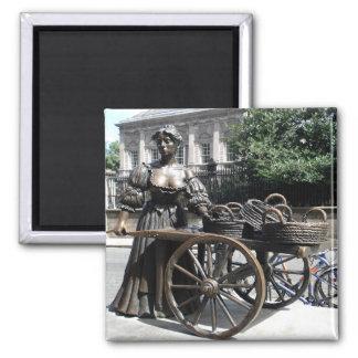 Molly Malone and Wheelbarrow Ireland 2 Inch Square Magnet