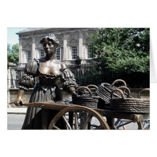 Molly Malone and Wheelbarrow Ireland Card
