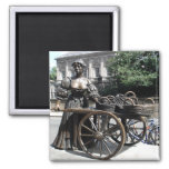 Molly Malone and Wheelbarrow Ireland 2 Inch Square Magnet