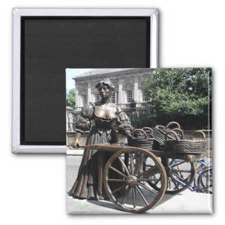 Molly Malone And Wheelbarrow Ireland Magnet