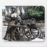 Molly Malone and Wheelbarrow Ireland Mousepad