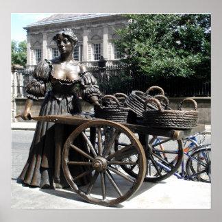 Molly Malone and Wheelbarrow Ireland Poster