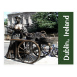 Molly Malone And Wheelbarrow Statue Ireland Card at Zazzle