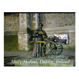 Molly Malone Statue, Dublin Ireland Postcard