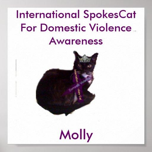 molly, Molly, gato internacional de los rayos para Poster