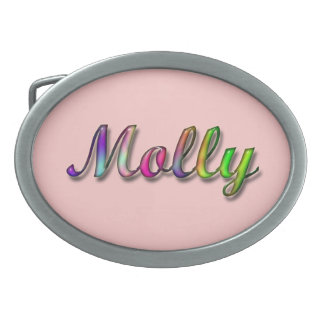 Molly Name Belt Buckle