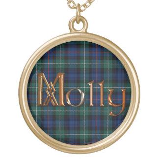 Molly Name-branded Pendant on MacKenzie Tartan