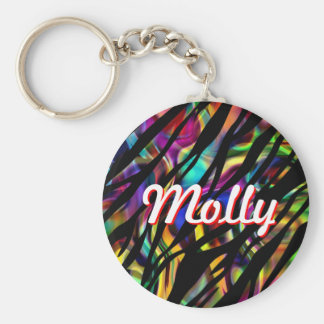 Molly Personalized Colorful Keychain Basic Round Button Keychain