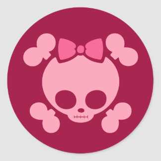 Molly Pink Classic Round Sticker
