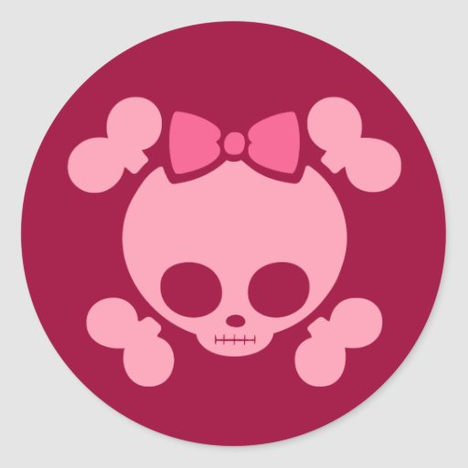 Molly Pink Round Stickers