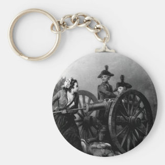 Molly Pitcher at the Battle of Monmouth_War Image Keychain
